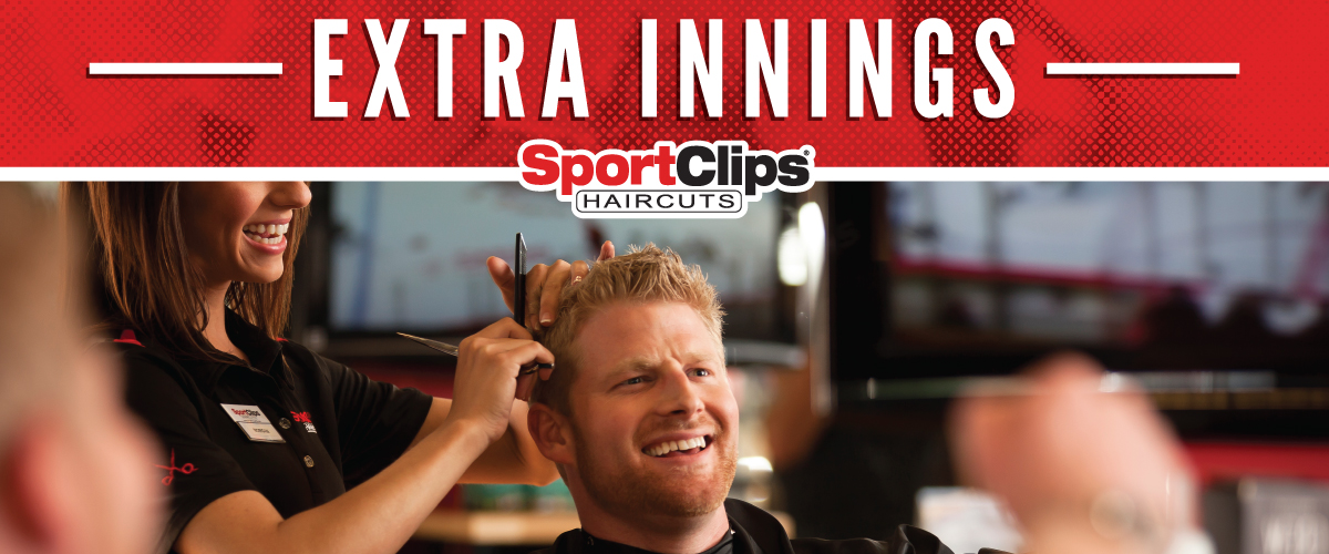The Sport Clips Haircuts of South Naperville Extra Innings Offerings